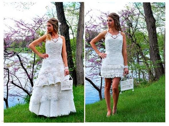 Toilet Paper Bridal Gowns
