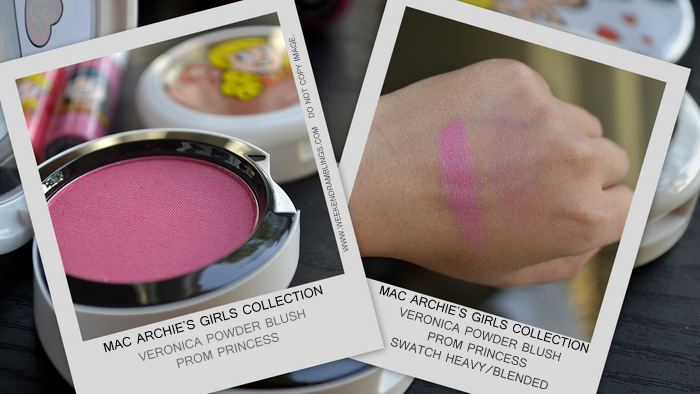 MAC Archies Girls Makeup Collection Spring 2013 Valentines Gift Ideas Photos Swatches Indian Beauty Blog Darker Skin WOC Veronica Powder Blush Prom Princess Violet Pink