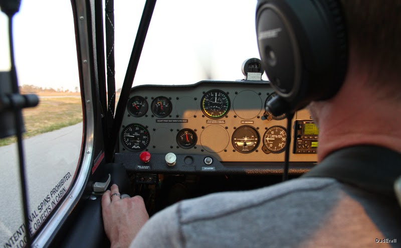 Tableau de bord d'un avion