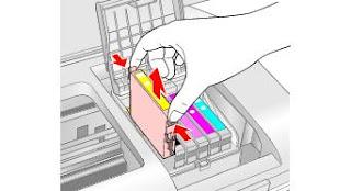 sacar cartucho impresora epson t50
