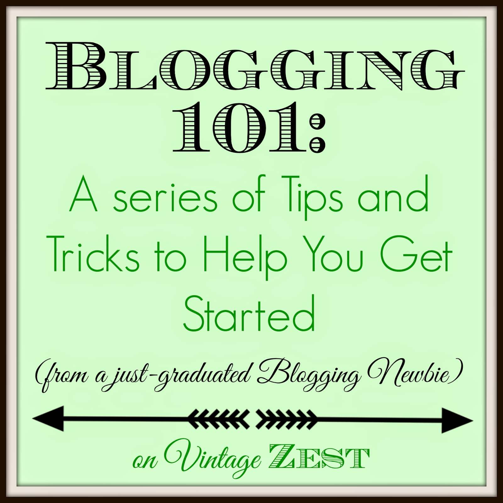 Blogging 101 on Diane's Vintage Zest!