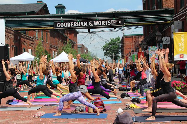 Yoga in the City with OmT.O Distillery District #omTO2015