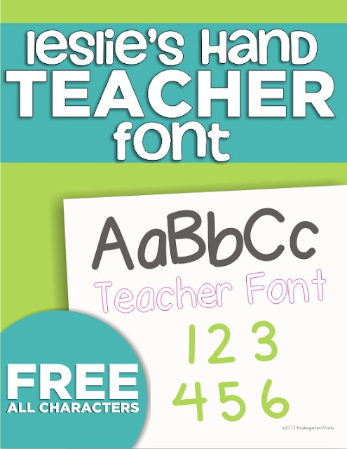 2 free teacher fonts and a ten frame font - KindergartenWorks