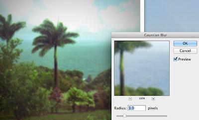 photoshop Gaussian blur screen shot
