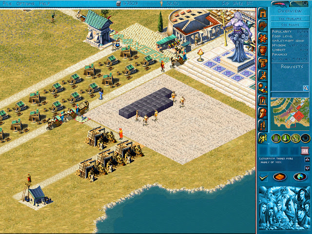 Poseidon: Master of Atlantis - Building Pyramids Screenshot