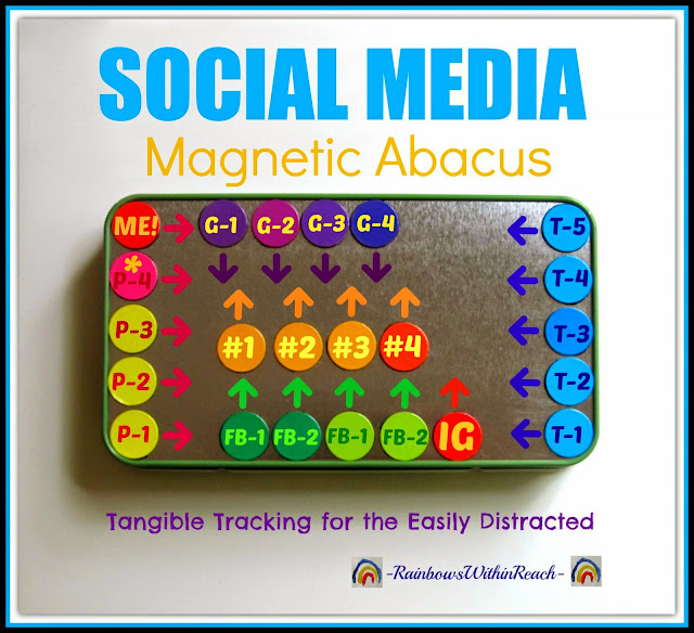 Social Media Magnetic Abacus: Tangible Tracking for the Easily Distracted at RainbowsWithinReach