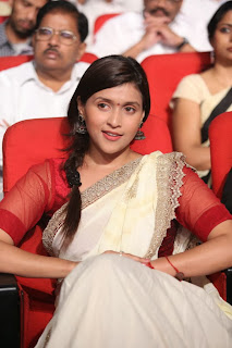 Actress Barbie Chopra Picture Gallery in Saree at Prema Geema Jantha Nai Movie Audio Launch Function 0008