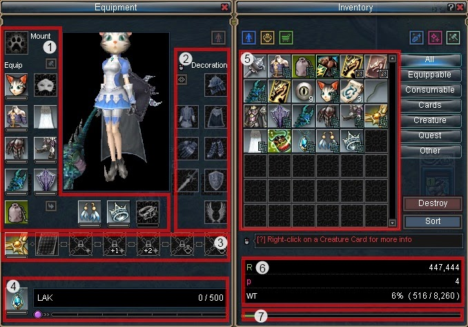 MMORPG Inventory weight