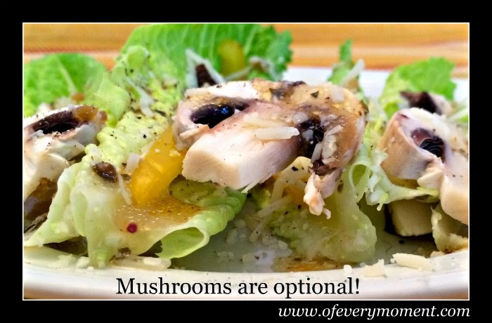 salad, mushrooms, easy