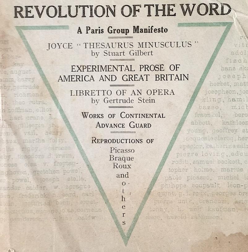 Jot101: Revolution of the Word - Modernist Manifesto