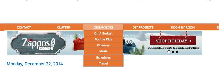 OrganizingMadeFun.com - the New Year and New Look with drop down menus and more!