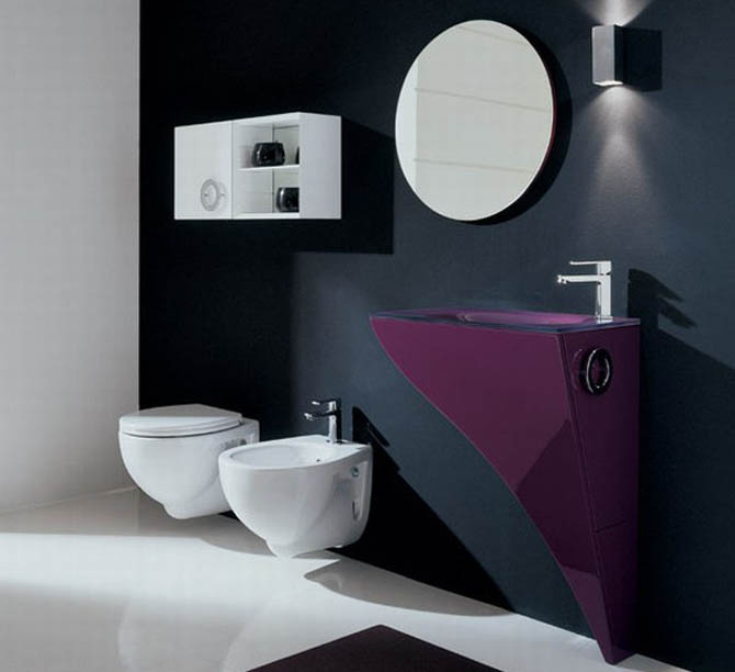 Ultra Modern Luxury Bathroom Furniture Set Interior Design