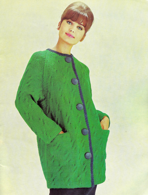 The Vintage Pattern Files: 1970s Knitting - Cable Jumpers and Cardigans