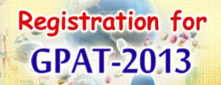 GPAT 2013 Exam Notification & Online Application Form