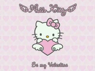 Hello Kitty Valentines Day Greeting printable e-Card