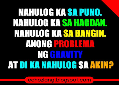 Anong problema ng gravity at di ka nahulog sa akin