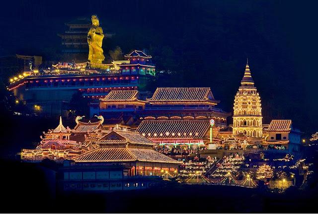 极乐寺夜景