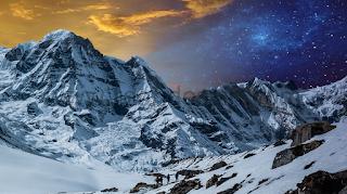 hasil sementara tahap satu manipulasi foto pegunungan dua dimensi