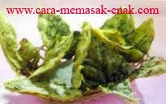 resep mudah dan praktis membuat makanan khas keripik bayam spesial renyah, gurih, enak, lezat