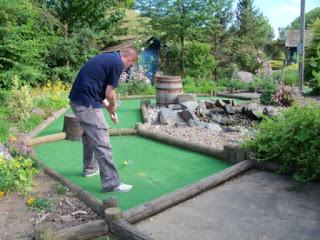 Secret Garden Golf at the Springfields Shopping Village in Spalding, Lincolnshire