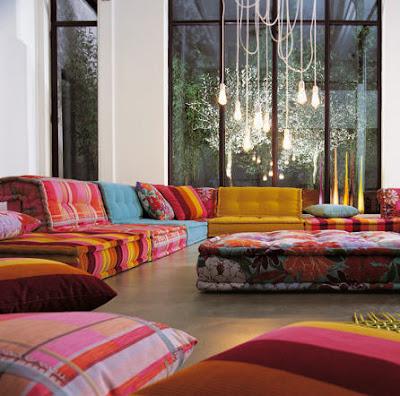 sofá tecido moderno
