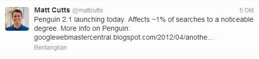 update penguin 2.1 google