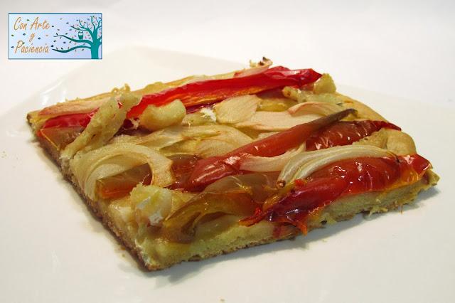 torta,aceite,oliva,bacalao,pimiento,masa,pizza,horno,casero,casera,receta,cebolla,asado,requena,panaderia,