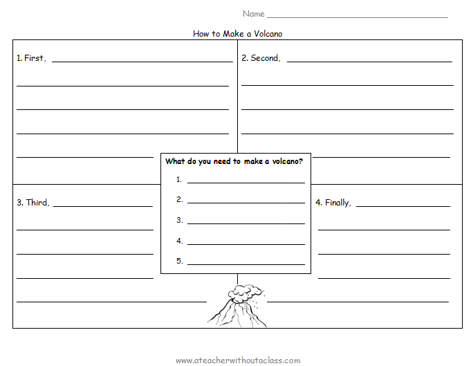 Writing Templates On Volcanoes | New Calendar Template Site