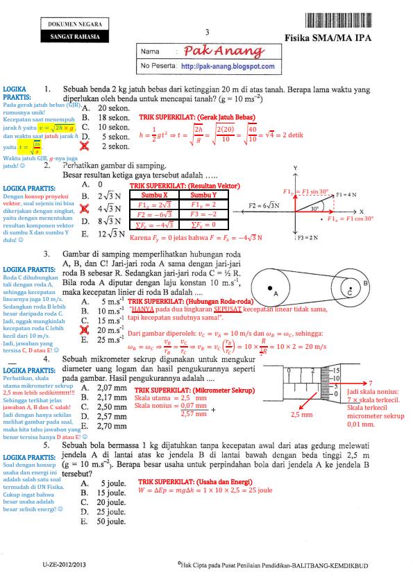 Download Bocoran Soal Un Matematika Smp 2016