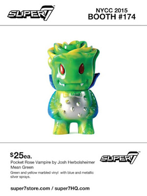 "New York Comic Con 2015 Exclusive ""Mean Green"" Pocket Rose Vampire Vinyl Figure by Super7"