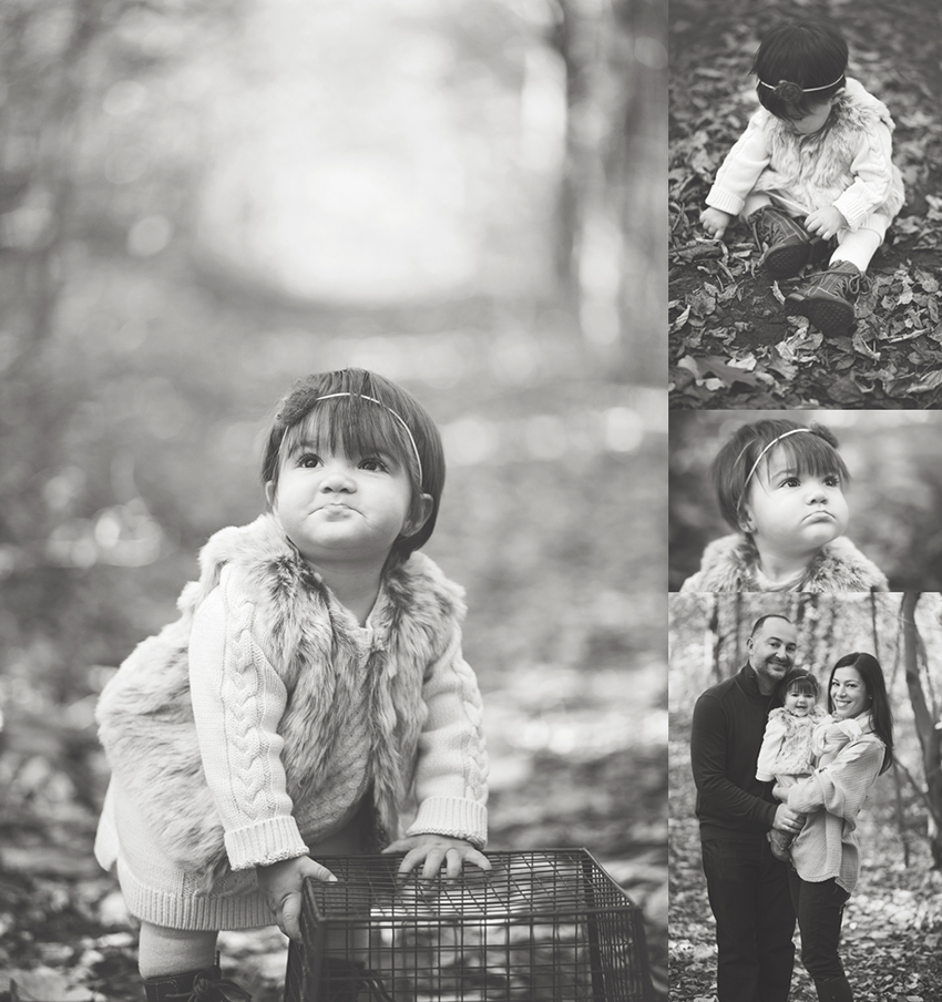 baby in leaves, fall baby photos, one year old photo inspiration, baby girl