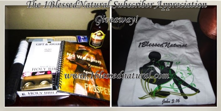 Copyright 2015 The 1BlessedNatural Subscriber Appreciation Giveaway