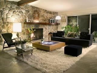 sala paredes de piedra