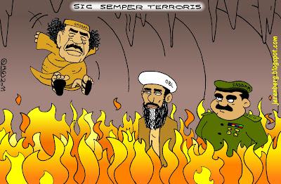 fires of hell cavern falling dumped gaddafi bin laden obl saddam
