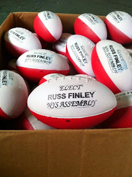 Finley Footballs...Haven't Seen Them Down Here Yet, But I'm Wide Open With No Defenders