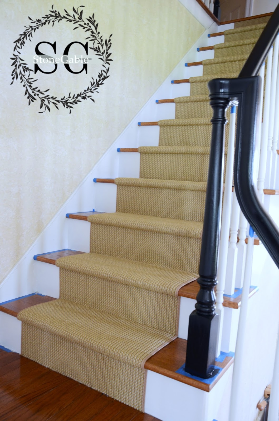 stair adding a natural looking runner