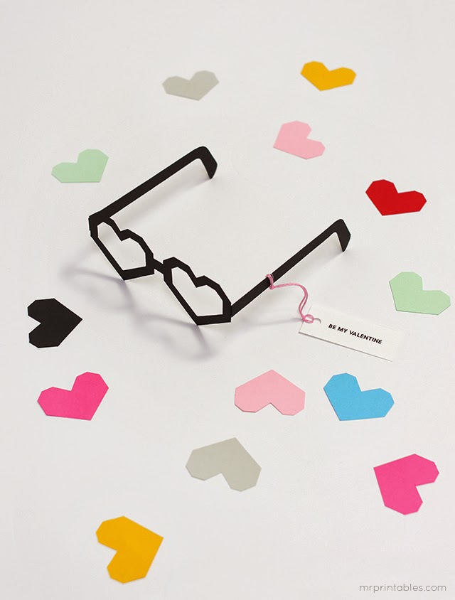 Gafas con forma de corazon