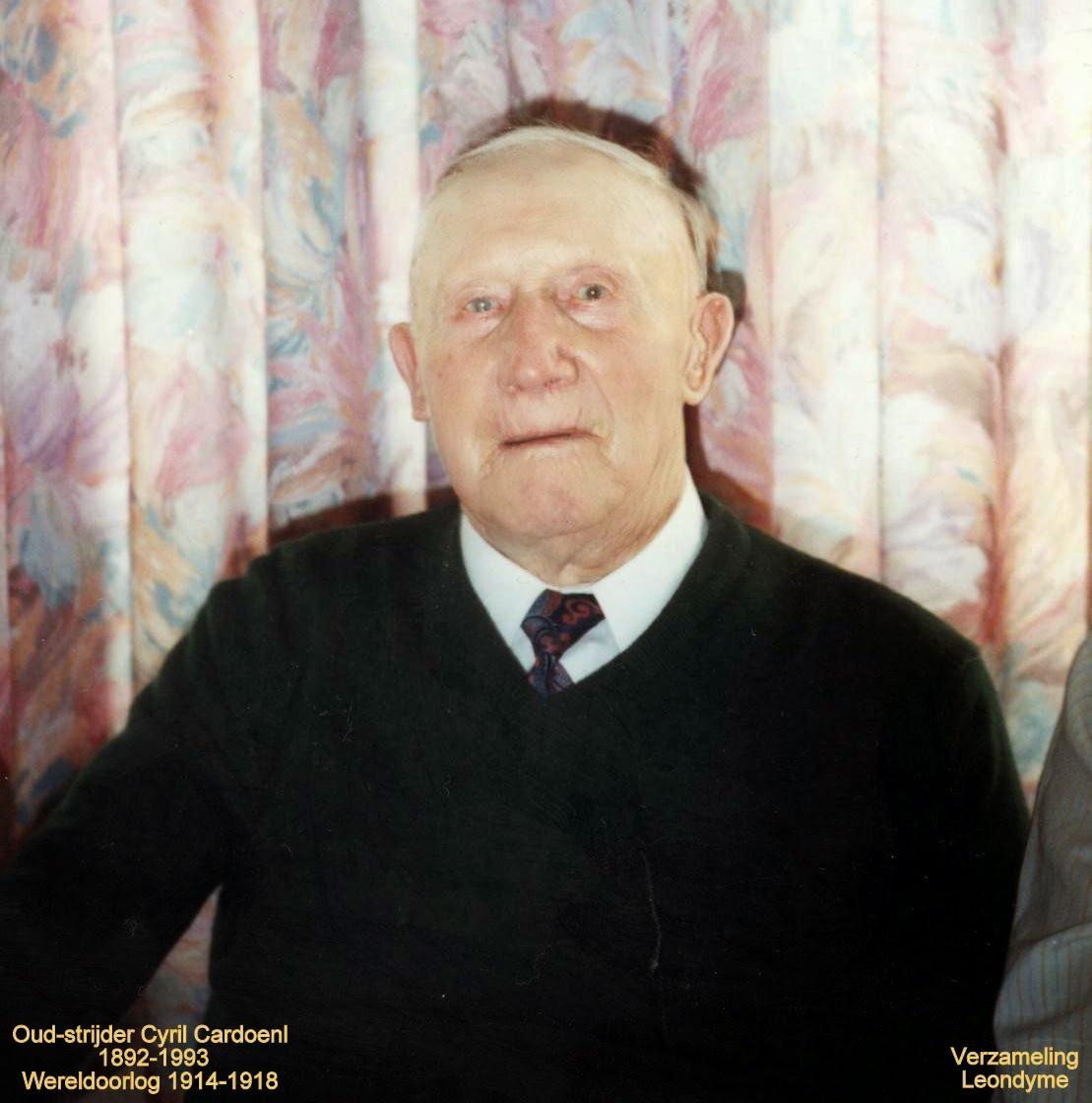 Oud-strijder Cyril Cardoen 1892-1993. Verzameling Leondyme