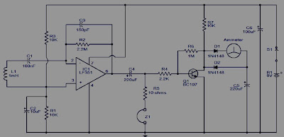 IC LF351-Electromagnetic Field Detector