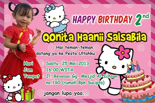 ... undangan ultah princess kartu Bingkai Undangan Ulang Tahun Hello Kitty