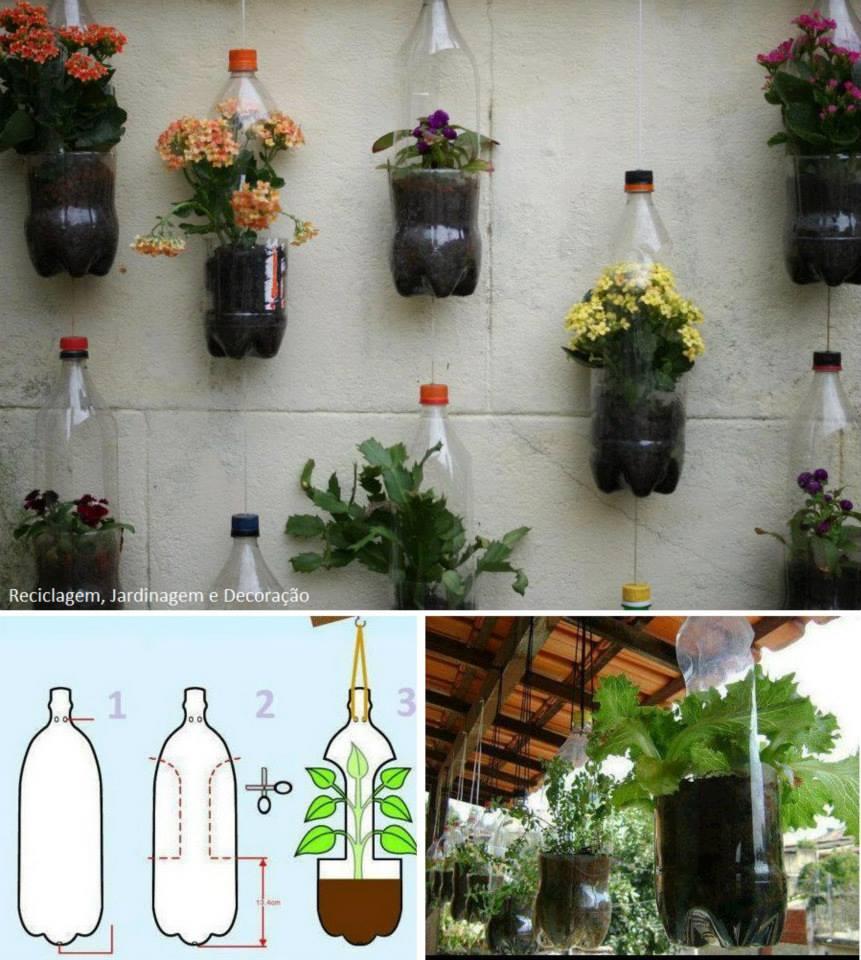 Вазоны с пластиковых бутылок своими руками