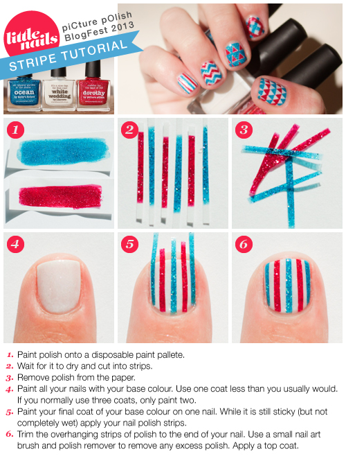 Little Nails Stripe Tutorial