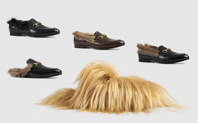 gucci hairy shoes