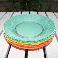 Assiettes duralex colorés - Années 60