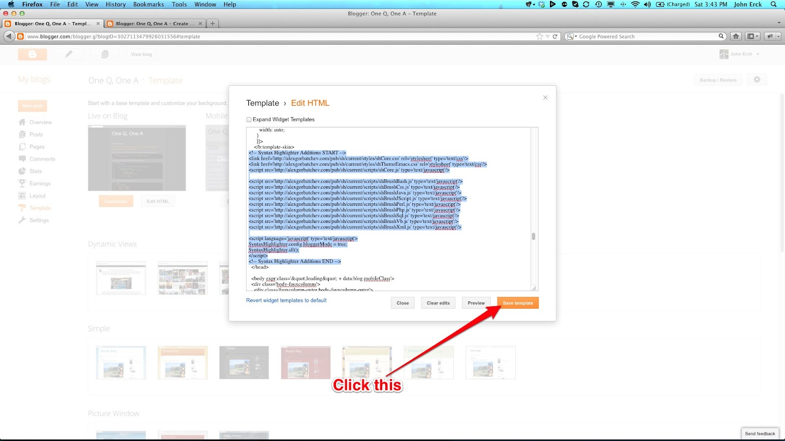 "Syntax Highlighter Additions START --link href=""http://alexgorbatchev.com/pub/sh/current/styles/shCore.css"" rel..."