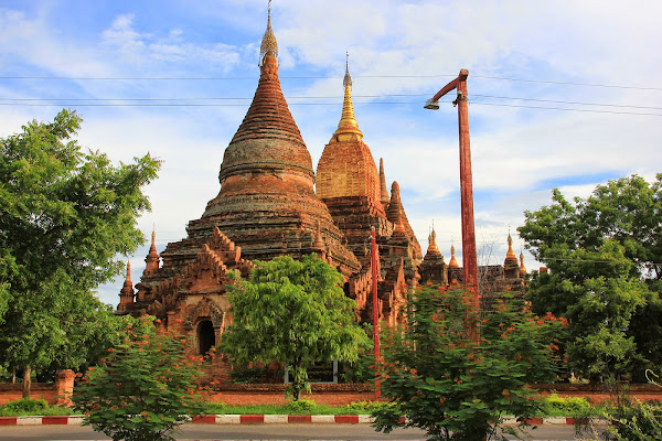 Carretera entre Nyaung-U y antiguo Bagan