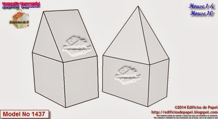 Recorta y colorea tus propias casitas de papel y aumenta el tamaño de tu Happy Village