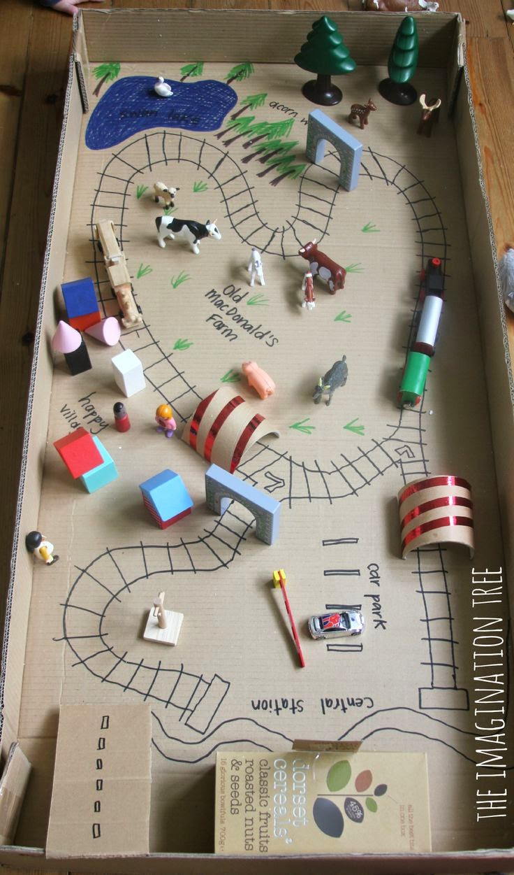 DIY Railroad box toy