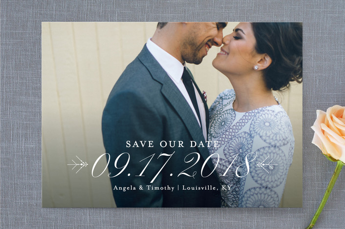 full bleed photo save the date card