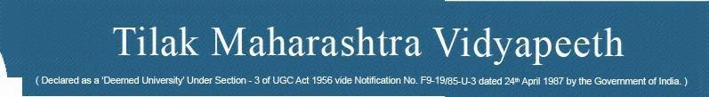 Tilak Maharashtra Vidyapeeth 2014 Results Logo